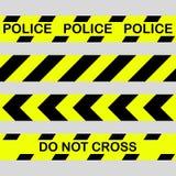 Reeks Geel met zwarte van het politielijn en gevaar banden Kruis niet vector illustratie