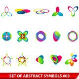 Reeks gekleurde abstracte symbolen Stock Afbeelding