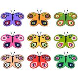 Reeks gekleurde decoratieve vlinders Royalty-vrije Stock Foto's