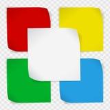 Reeks gekleurde document stickers Royalty-vrije Stock Foto's