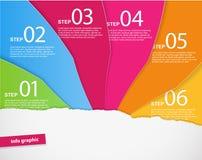 Reeks gekleurde documenten met plaats voor uw eigen tekst. Stock Foto's