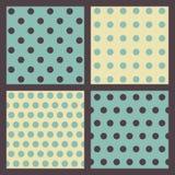 Reeks gekleurde gestippelde patronen. Royalty-vrije Stock Afbeelding