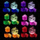 Reeks gekleurde magische dozen voor alle gelegenheden vector illustratie