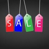 Reeks gekleurde markeringen voor verkoop Royalty-vrije Stock Afbeelding