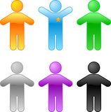 Reeks gekleurde Mensen Stock Foto