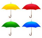 Reeks gekleurde paraplu's Royalty-vrije Illustratie