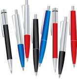 Reeks gekleurde pennen Stock Fotografie