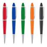 Reeks gekleurde pennen Royalty-vrije Stock Fotografie