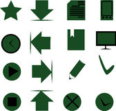 Reeks gekleurde pictogrammen Royalty-vrije Stock Foto