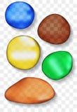 Reeks gekleurde stenen Royalty-vrije Stock Foto's