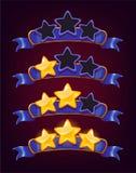 Reeks gekleurde sterren en linten Royalty-vrije Stock Foto