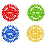 Reeks gekleurde stickers Stock Foto