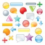 Reeks gekleurde symbolen Stock Foto's