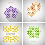Reeks gekleurde technologie-patronen Stock Afbeeldingen
