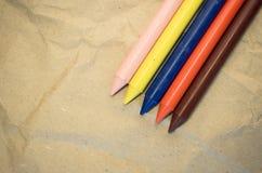 reeks gekleurde waskleurpotloden Royalty-vrije Stock Foto