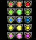 Reeks gekleurde Webknopen royalty-vrije illustratie
