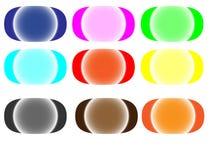 Reeks gekleurde Webknopen Stock Afbeelding