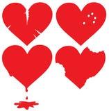 Reeks gekwetste harten Stock Afbeelding