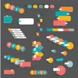 Reeks geleidelijke infographic elementen vector illustratie