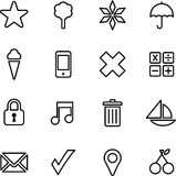 Reeks geïllustreerde pictogrammen Stock Fotografie