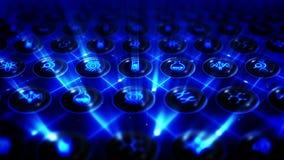 Reeks genetische pictogrammen De achtergrond van het biotechnologieonderzoek Diverse inzameling van pictogrammen voor zaken CG-Li stock videobeelden