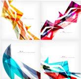 Reeks geometrische abstracte achtergronden Royalty-vrije Stock Afbeelding