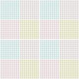 Reeks geometrische bloemenpunttexturen Royalty-vrije Stock Afbeeldingen