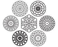 Reeks geometrische elementen van het knoopontwerp royalty-vrije illustratie