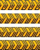 Reeks geometrische naadloze gevormde grenzen Stock Foto