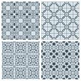 Reeks geometrische naadloze patronen Stock Afbeeldingen