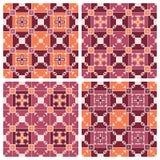 Reeks geometrische naadloze patronen Royalty-vrije Stock Afbeelding