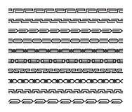 Reeks geometrische naadloze patronen in oosterse stijl Stock Afbeeldingen