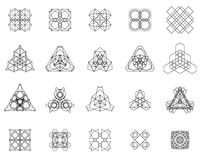 Reeks geometrische symbolen Royalty-vrije Stock Foto's