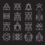 Reeks geometrische vormen voor uw ontwerp In hipster logotype Royalty-vrije Stock Fotografie