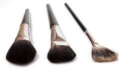 Reeks geïsoleerdee make-upborstels Stock Afbeelding