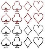 Reeks gestileerde kaartsymbolen stock illustratie