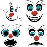 Reeks, gezichten uitgesproken emoties Stock Afbeelding