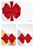 Reeks giftkaarten met bogen Royalty-vrije Stock Afbeelding