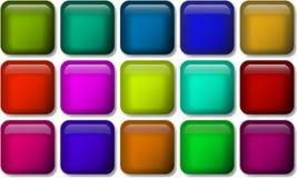 Reeks glanzende knooppictogrammen voor uw ontwerp Stock Afbeelding