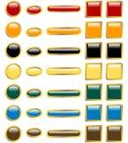 Reeks Glanzende Knopen van het Web Stock Foto's