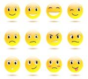 Reeks glimlachen Stock Afbeeldingen