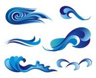 Reeks golfsymbolen voor ontwerp dat op wit wordt geïsoleerdo royalty-vrije illustratie
