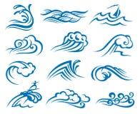 Reeks golven vector illustratie
