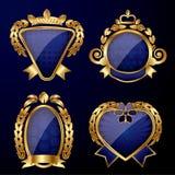 Reeks gouden etiketten Royalty-vrije Stock Foto's