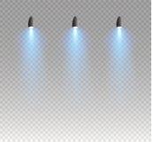 Reeks gouden het gloeien geïsoleerde lichteffecten voor transparante achtergrond Zonflits met stralen en schijnwerper Gloedlicht vector illustratie