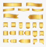 Reeks gouden linten Royalty-vrije Stock Foto's