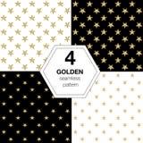 Reeks gouden sterren Royalty-vrije Stock Afbeeldingen