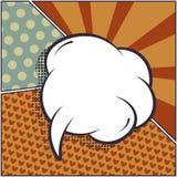 Reeks grappige bellen en elementen in pop met halftone shado vector illustratie