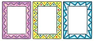 Reeks grappige decoratieve frames Royalty-vrije Stock Foto's