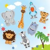 Reeks grappige dieren van Afrika stock illustratie